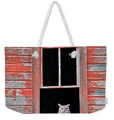 Owl Window Weekender Tote Bag