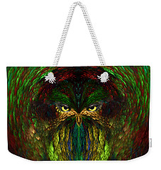 Weekender Tote Bag featuring the digital art Owly Spirit - Fantasy Art By Giada Rossi by Giada Rossi