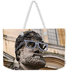 Weekender Tote Bag featuring the photograph Oxford Geek by Rona Black