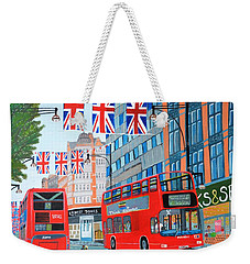 Oxford Street- Queen's Diamond Jubilee  Weekender Tote Bag