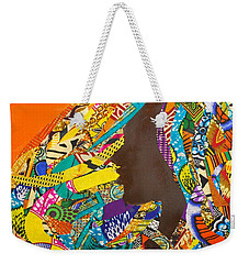 Weekender Tote Bag featuring the tapestry - textile Oya I by Apanaki Temitayo M
