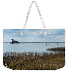 Oyster Shack And Tall Grass Weekender Tote Bag