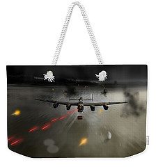 P-popsie Attacking The Mohne Dam Weekender Tote Bag by Gary Eason