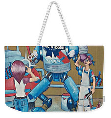 Weekender Tote Bag featuring the photograph Pabst Mural In The Loop by Kelly Awad