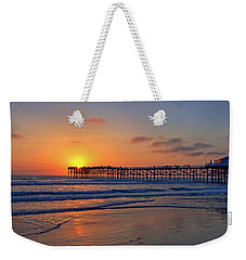 Pacific Beach Pier Sunset Weekender Tote Bag