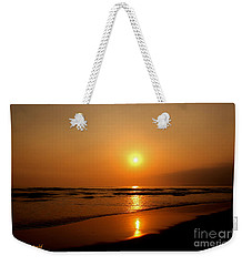 Pacific Sunset Reflection Weekender Tote Bag