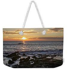 Paddlers At Sunset Horizontal Weekender Tote Bag by Denise Bird