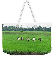 Paddy Field Workers Weekender Tote Bag