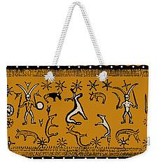 Weekender Tote Bag featuring the digital art Pagan Rituals by Vagabond Folk Art - Virginia Vivier
