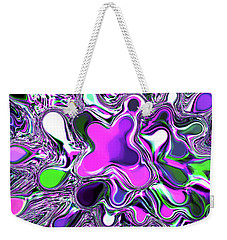 Paint Ball Color Explosion Purple Weekender Tote Bag