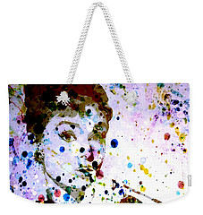 Weekender Tote Bag featuring the digital art Paint Drops by Brian Reaves