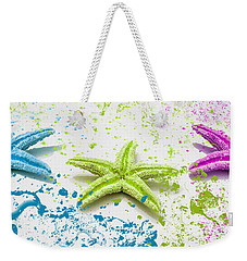 Paint Spattered Star Fish Weekender Tote Bag