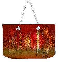 Paint The Town Red Weekender Tote Bag by Stuart Turnbull