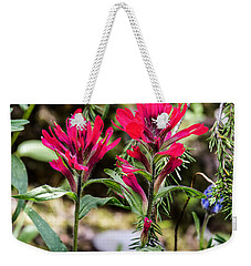 Weekender Tote Bag featuring the photograph Paintbrush by Michael Chatt