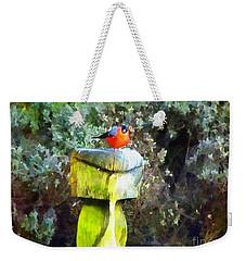 Painted Bullfinch S2 Weekender Tote Bag
