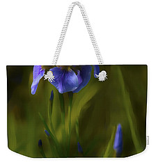 Painted Alaskan Wild Irises Weekender Tote Bag
