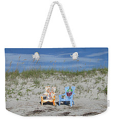 Painted Beach Chairs Weekender Tote Bag