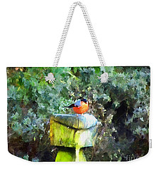 Painted Bullfinch S1 Weekender Tote Bag