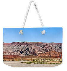 Weekender Tote Bag featuring the photograph Painted Desert Mountain by Daniel Hebard