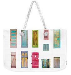 Painted Doors And Window Panes Weekender Tote Bag