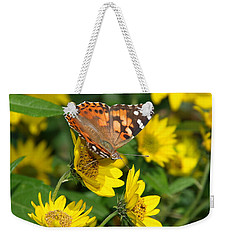Weekender Tote Bag featuring the photograph Painted Lady by James Peterson
