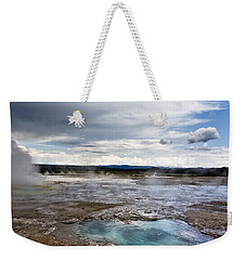 Weekender Tote Bag featuring the photograph Paint Pots by Belinda Greb