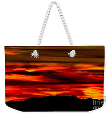 Weekender Tote Bag featuring the photograph Painted Sky 34 by Mark Myhaver