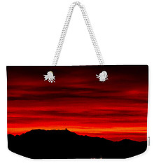 Weekender Tote Bag featuring the photograph Painted Sky 36 by Mark Myhaver