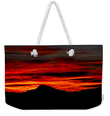 Weekender Tote Bag featuring the photograph Painted Sky 45 by Mark Myhaver