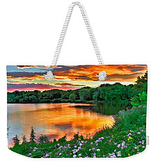 Painted Sunset Weekender Tote Bag