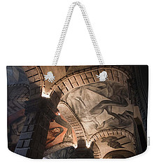 Weekender Tote Bag featuring the photograph Painted Vaults by Lynn Palmer