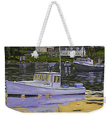 Fishing Boats In Port Clyde Maine Weekender Tote Bag by Keith Webber Jr