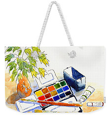 Paints And Brushes Weekender Tote Bag