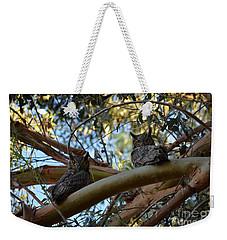 Pair Of Great Horned Owls Weekender Tote Bag