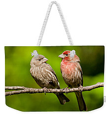 Pair Of House Finches In A Tree Weekender Tote Bag