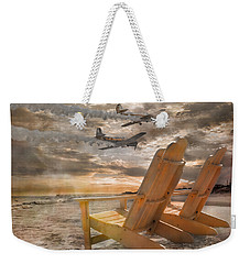 Pairs Along The Coast Weekender Tote Bag by Betsy Knapp