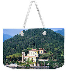 Weekender Tote Bag featuring the photograph Palace At Lake Como Italy by Greta Corens
