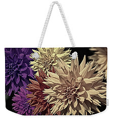 Pale Dahlias Weekender Tote Bag by Richard Farrington