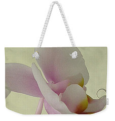 Pale Orchid On Cream Weekender Tote Bag