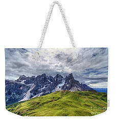 Weekender Tote Bag featuring the photograph Pale San Martino - Hdr by Antonio Scarpi