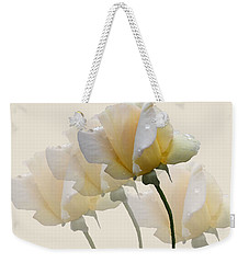 Pale Yellow Weekender Tote Bag by Rosalie Scanlon