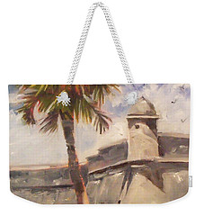 Palm At St. Augustine Castillo Fort Weekender Tote Bag