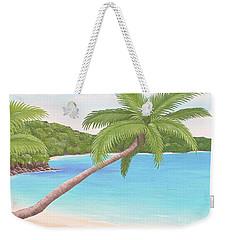 Palm In Paradise Weekender Tote Bag