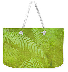 Weekender Tote Bag featuring the photograph Palm Leaves Botanical Abstract by Marianne Campolongo