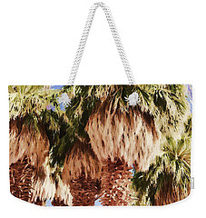Weekender Tote Bag featuring the painting Palm by Muhie Kanawati