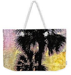 Weekender Tote Bag featuring the photograph Palm Sunset by Kathy Bassett