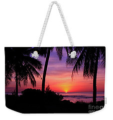 Palm Tree Sunset In Paradise Weekender Tote Bag