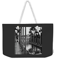Palm Trees Bordering A Pool Weekender Tote Bag