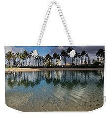 Palm Trees Crystal Clear Lagoon Water And Tropical Fish Weekender Tote Bag