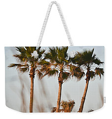 Palm Trees Through Tall Grass Weekender Tote Bag